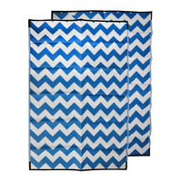 CHEVRON Recycled Mat, Blue & Grey