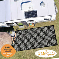 DIAMOND Recycled Mat, Extra Large, Black & Grey