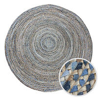 CHINDI DENIM Indian Design Recycled Floor Rug, Large