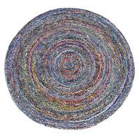 CHINDI RUG Indian Design Recycled Floor Rug, Memphis, Multicolour