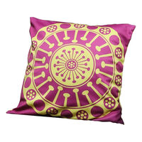 EUCALYPTUS Aboriginal Design Cushion Cover, Yellow & Pink