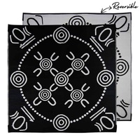 GATHERINGS Aboriginal Design Recycled Mat, Black & White