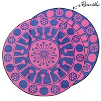 EUCALYPTUS FLOWER Aboriginal Design Recycled Mat, Pink & Blue