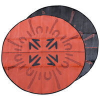 ROO HUNT Aboriginal Design Recycled Mat, Black & Orange