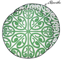 KORERO New Zealand Design Recycled Mat, Green & White