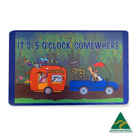 IT'S 5 O'CLOCK SOMEWHERE Caravan Aboriginal Design Recycled Door Mat