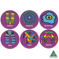 PEOPLE & NECESSITIES Aboriginal Design Seating Mats, Set Of 6