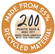 95% Recycled Plastic