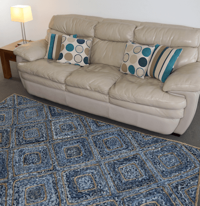 indoor and outdoor rug - chindi denim