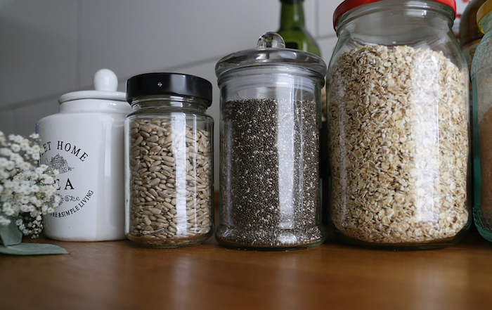 How we recycle at Recycled Mats - Store food in glass jars