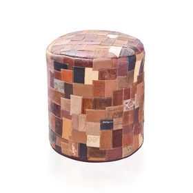 OTTOMAN RECYCLED Leather