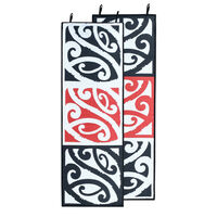 MANGOPARE New Zealand Design Recycled Runner, Black, White & Red