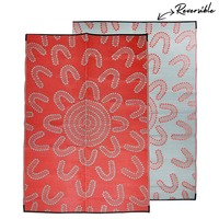 MEETING PLACE Aboriginal Design Recycled Mat, Red & Grey