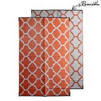 MOROCCAN Recycled Mat, Orange & White