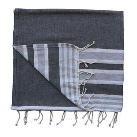 BEACH THROW Royal Stripe, Grey