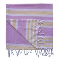 BEACH THROW  Royal Stripe, Yellow & Light Pink