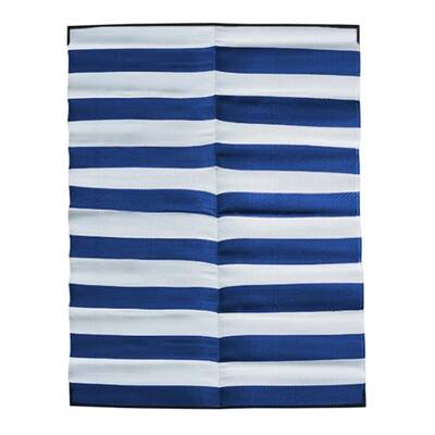 STRIPES Recycled Mat, Navy Blue & White