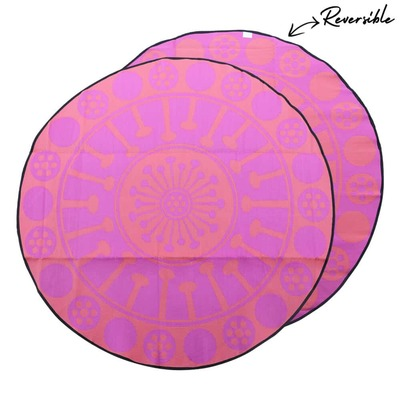 EUCALYPTUS FLOWER Aboriginal Design Recycled Mat, Light Pink & Dark Pink